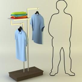 Καλόγερος Ρούχων με Ξύλινη Βάση και Ράφι