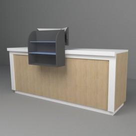 Έπιπλο Ταμείου με 2 Θέσεις Η/Υ και Εκθετήριο Πρόσοψης
