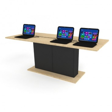Πάγκος Δειγματισμού Laptop/Tablets με Ντουλάπι