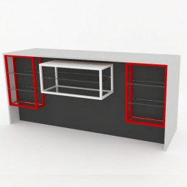 Ταμείο VIEW με Μεταλλικές Προθήκες, 200cm