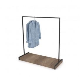 Stand Κρέμασης Ρούχων με Ξύλινη Βάση