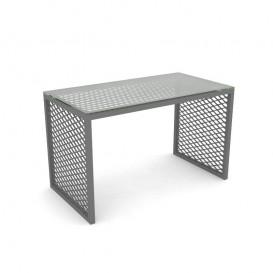 Τραπέζι Βιτρίνας με Μεταλλικό Πλέγμα