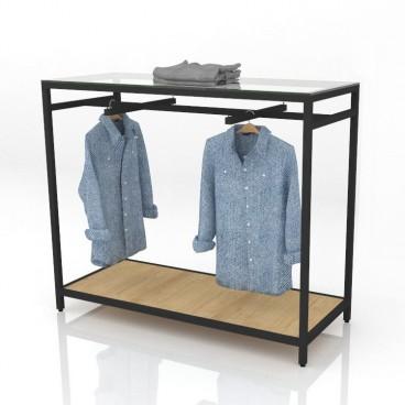 Πάγκος Δειγματισμού Ρούχων με Κρεμάσεις
