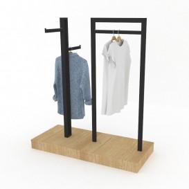 Κεντρικό Έπιπλο με Τρεις Κρεμάσεις Ρούχων