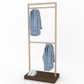 Διπλό Stand Κρέμασης Ρούχων με Βάθρο