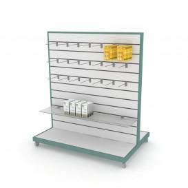 Τροχήλατη Γόνδολα Φαρμακείου με SLAT Panel