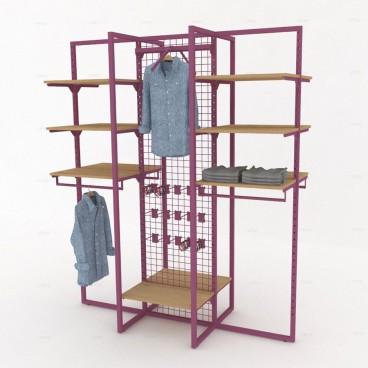Σύνθεση Κεντρικού Χώρου για Κρέμαση Ρούχων, 185cm