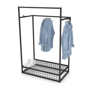 Σταντ Ρούχων με 2 Κρεμάσεις και Βάση Πλέγμα