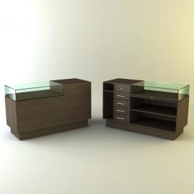 Ταμείο Βιτρίνα με Συρταριέρα