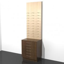 Πλάτη Τοίχου με Συρτάρια Οπτικών