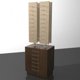 Κεντρικό Έπιπλο Οπτικών με Συρτάρια