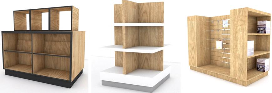 κεντρικα επιπλα βιβλιοπωλειου γονδολες ραφια τραπεζια βιβλιων