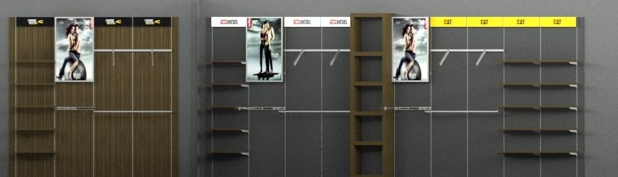Πλατες, συστηματα και επιπλα τοιχου για ενδυση