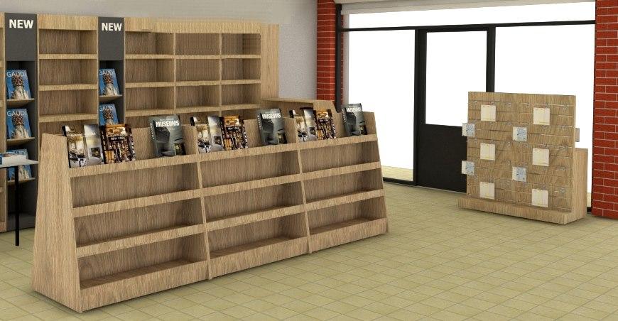 ραφια τοιχου για βιβλιοπωλειο