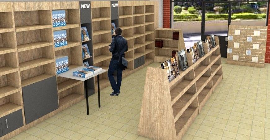 επιπλωση βιβλιοπωλειου